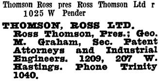 Wrigley's British Columbia Directory, 1930, page 1376.