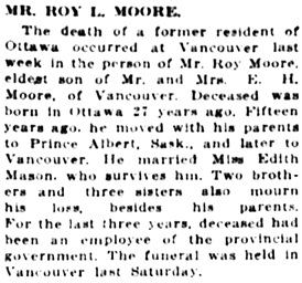 The Ottawa Journal, March 13, 1914, page 13, column 4.