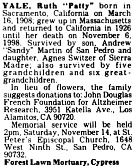 The Los Angeles Times, November 12, 1998, page A28R [224], column 7.