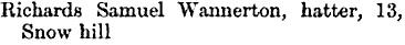 Corporation General and Trades Directory of Birmingham; Birmingham, William Cornish, 1861; page 278; https://books.google.ca/books?id=D-4NAAAAQAAJ&pg=PA278&lpg=PA278&dq=wannerton#v=onepage&q=wannerton&f=false.