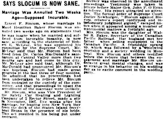 The New York Times, February 9, 1913, page 33, column 1.