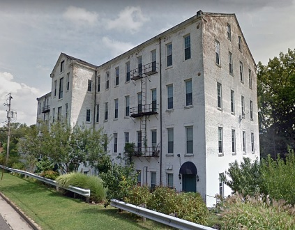 Silk Mill Apartments, 145 South River St., Kent, Ohio; Google Streets, searched August 13, 2018; image dated September 2017 [edited image].
