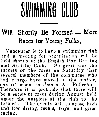 Vancouver Daily World, July 21, 1902, page 4, column 2.