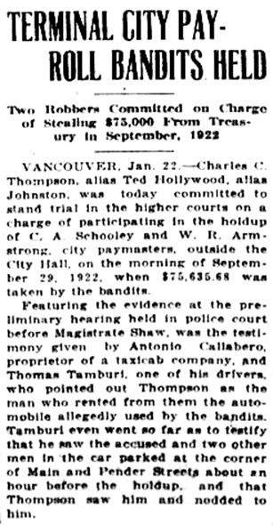 Victoria Daily Colonist, January 23, 1925, page 2, column 4; http://archive.org/stream/dailycolonist0125uvic_19#page/n1/mode/1up.