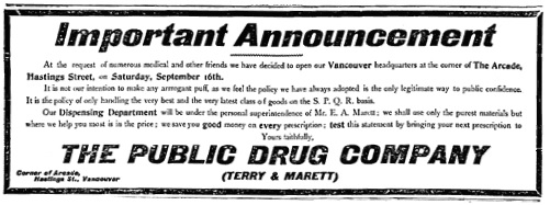 Vancouver Daily World, September 14, 1905, page 10.