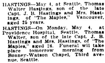 Vancouver Daily World, May 5, 1908, page 2, column 4.