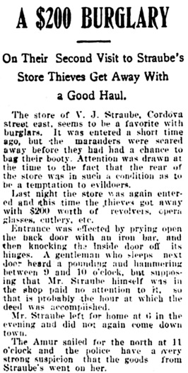 Vancouver Daily World, March 12, 1902, page 4, column 2.