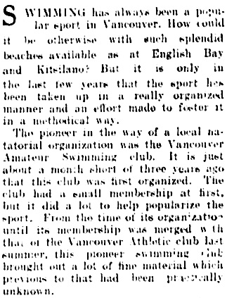 Vancouver Daily World, May 2, 1908, page 48, column 3 (first portion of article).