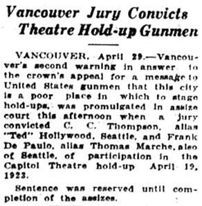 Victoria Daily Colonist, April 30, 1925, page 8, column 7; http://archive.org/stream/dailycolonist0325uvic_51#page/n7/mode/1up.