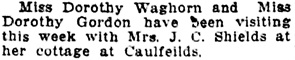 Personal Notes; Social Events, Vancouver Daily World, August 3, 1918, page 6, column 2.