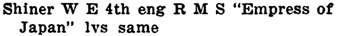 """Henderson's City of Vancouver and North Vancouver Directory, 1909, page 1042. [Directory listing shows middle initial as """"E.""""]"""