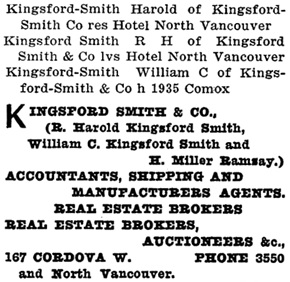 Henderson's City of Vancouver Directory, 1908, page 700.