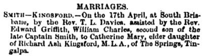The Brisbane Courier, April 24, 1878, page 2, column 3; https://trove.nla.gov.au/newspaper/article/1371575.