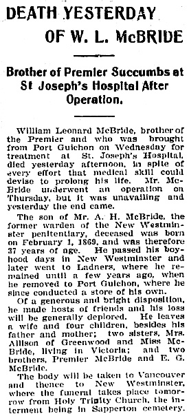 Victoria Daily Colonist, February 11, 1906, page 3, column 1; http://archive.org/stream/dailycolonist19060211uvic/19060211#page/n2/mode/1up.