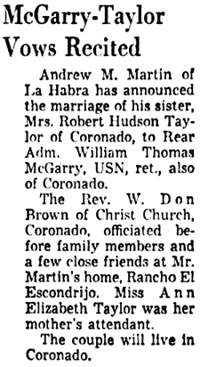 The Los Angeles Times, September 26, 1955, page 69, column 6.