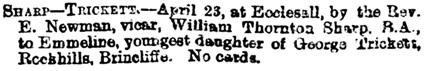 The Sheffield Daily Telegraph (Sheffield, England), April 24, 1879, page 3.