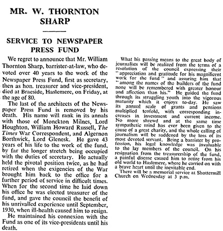 The Times (London, England), Monday, December 18, 1933, page 14.