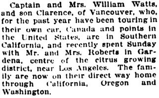 Vancouver Daily World, November 9, 1918, page 6, columns 3-4.