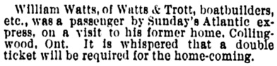 Vancouver Daily World, August 15, 1892, page 8, column 3.