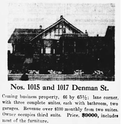 The Vancouver Sun, April 13, 1929, page 24, columns 5-6.