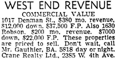 Vancouver Sun, June 21, 1957, page 39, column 8.