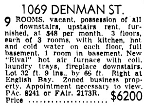 Vancouver Sun, February 9, 1946, page 23, column 1.
