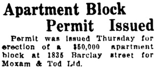 The Vancouver Sun, July 22, 1927, page 4, column 1.