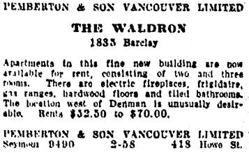 Vancouver Sun, December 6, 1927, page 13, column 8.