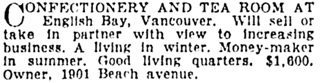 Calgary Herald, September 8, 1930, page 11, column 3.