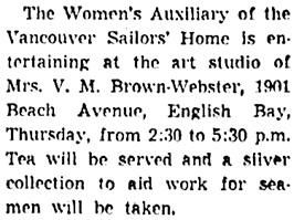 Vancouver Sun, April 19, 1938, page 7, column 4.