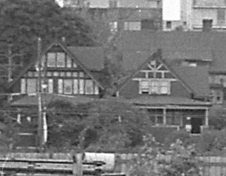 1942 Alberni Street and 1952 Alberni Street, detail from Coal Harbour in Vancouver, B.C.; July 1965; Northern B.C. Archives, Item 2013.6.36.1.003.063a; https://search.nbca.unbc.ca/index.php/coal-harbour-in-vancouver-b-c-6.