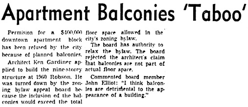 Vancouver Sun, January 23, 1959, page 10, columns 5-7.