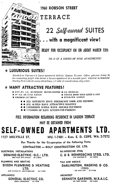 Vancouver Sun, November 21, 1959, page 19.