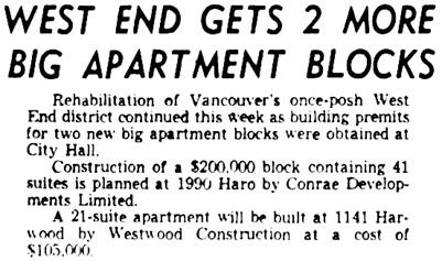 Vancouver Sun, June 22, 1954, page 25, columns 7-8.