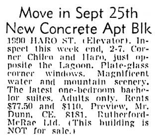 Vancouver Sun, September 10, 1954, page 42, column 2.