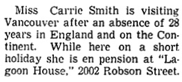 Vancouver Sun, September 20, 1938, page 8, column 2.