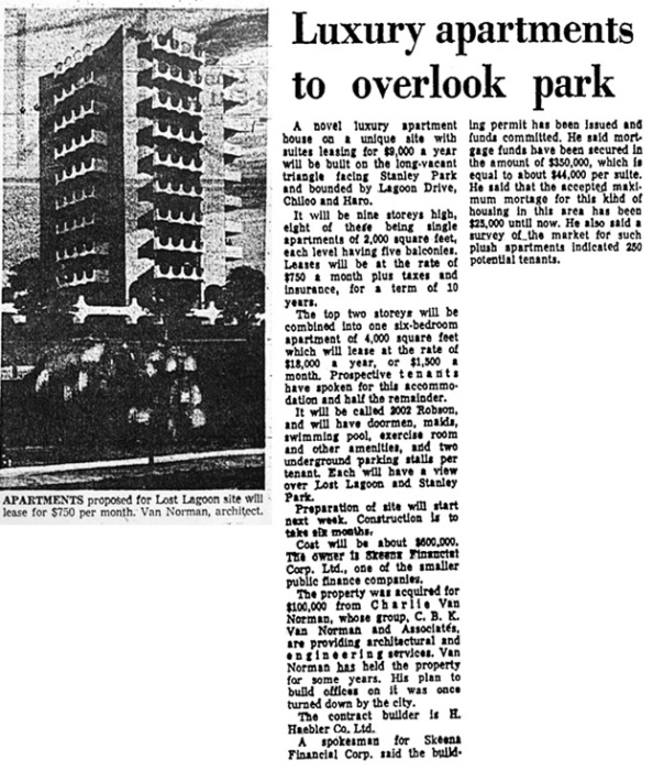 Vancouver Province, March 22, 1968, page 23, columns 2-3.