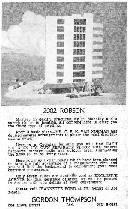 Vancouver Sun, May 6, 1961, page 36, columns 7-8.