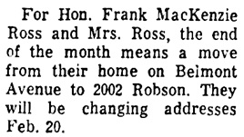 Vancouver Sun, February 3, 1969, page 26, column 3.