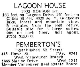 Vancouver Sun, June 4, 1949, page 46, column 1.