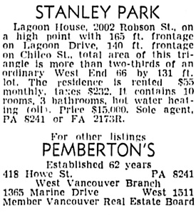 Vancouver Sun, May 28, 1949, page 28, column 2.