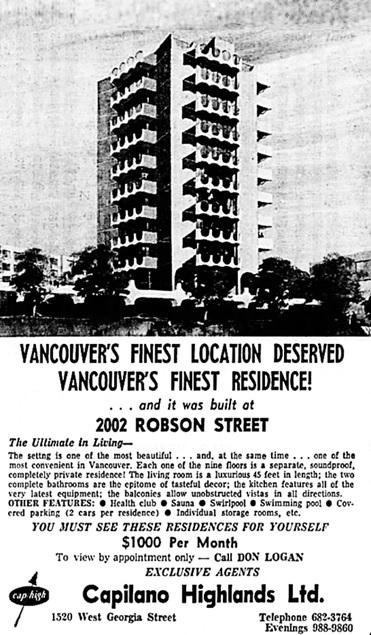 Vancouver Sun, November 27, 1969, page 37, columns 6-7.