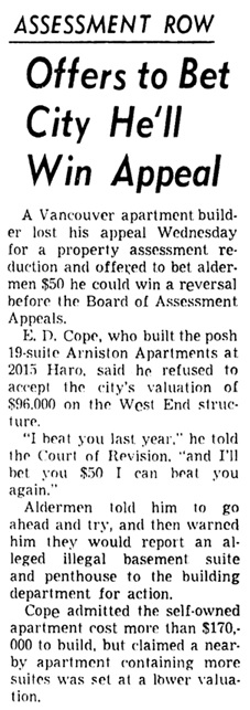 Vancouver Sun, March 12, 1953, page 3, column 4.