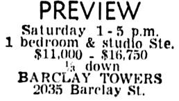 Vancouver Sun, June 19, 1959, page 39, column 3.