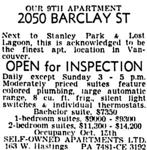 Vancouver Sun, October 6, 1953, page 27, column 6.