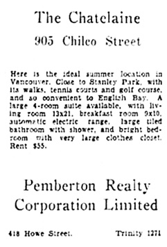 Vancouver Sun, February 10, 1932, page 14, column 7.