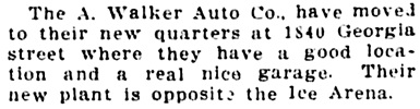 Vancouver Daily World, August 17, 1912, page 28, column 2.