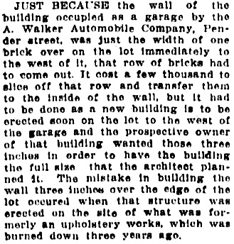 Vancouver Daily World, April 9, 1912, page 12, column 4.