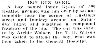 Vancouver Daily World, January 3, 1911, page 8, column 6.