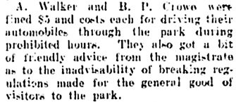 Vancouver Daily World, July 21, 1909, page 18, column 3.